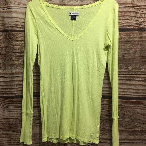 Neon Yellow LS Shirt
